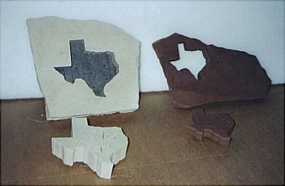 Texas cut from stones